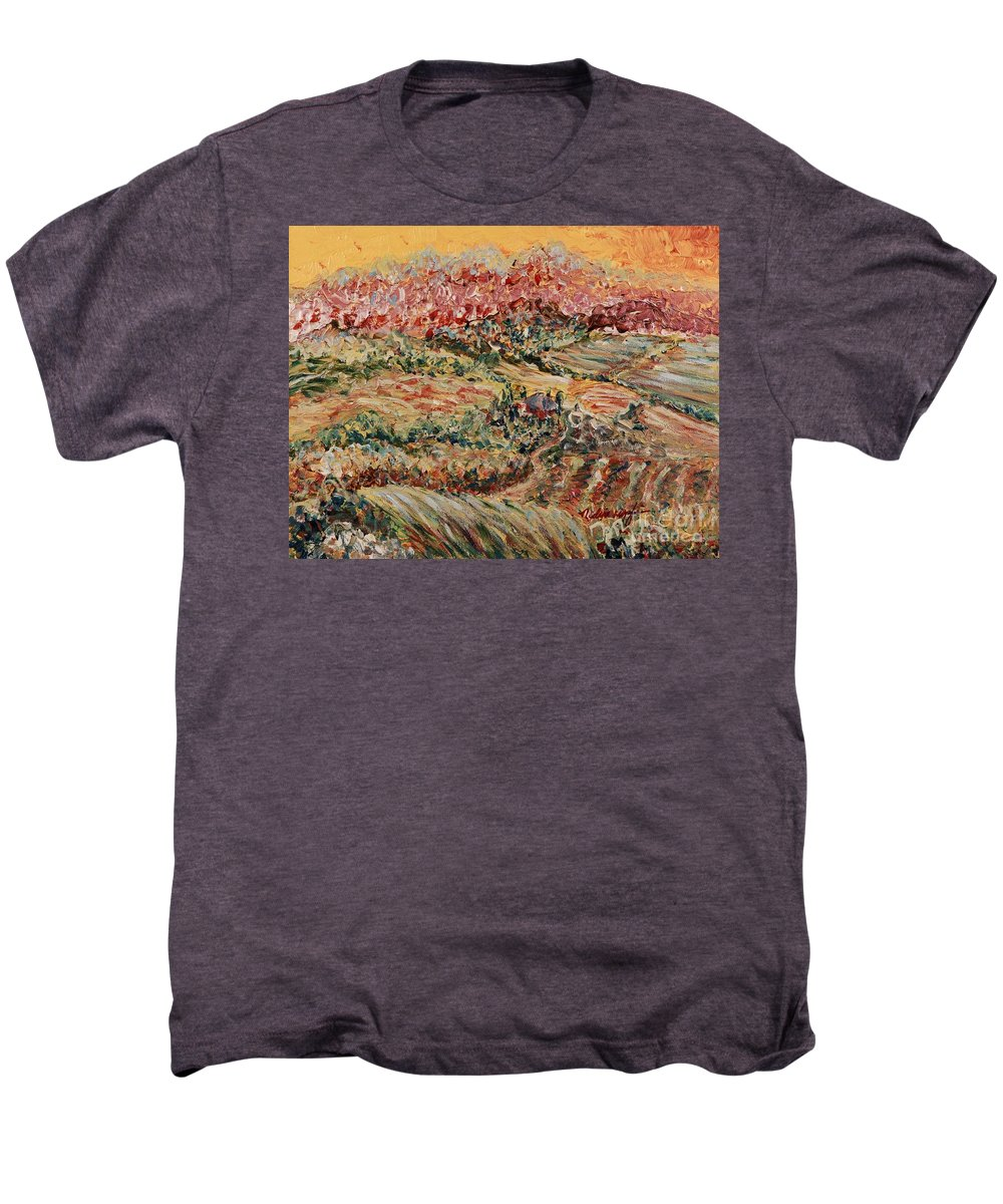 Provence Men's Premium T-Shirt featuring the painting Golden Provence by Nadine Rippelmeyer