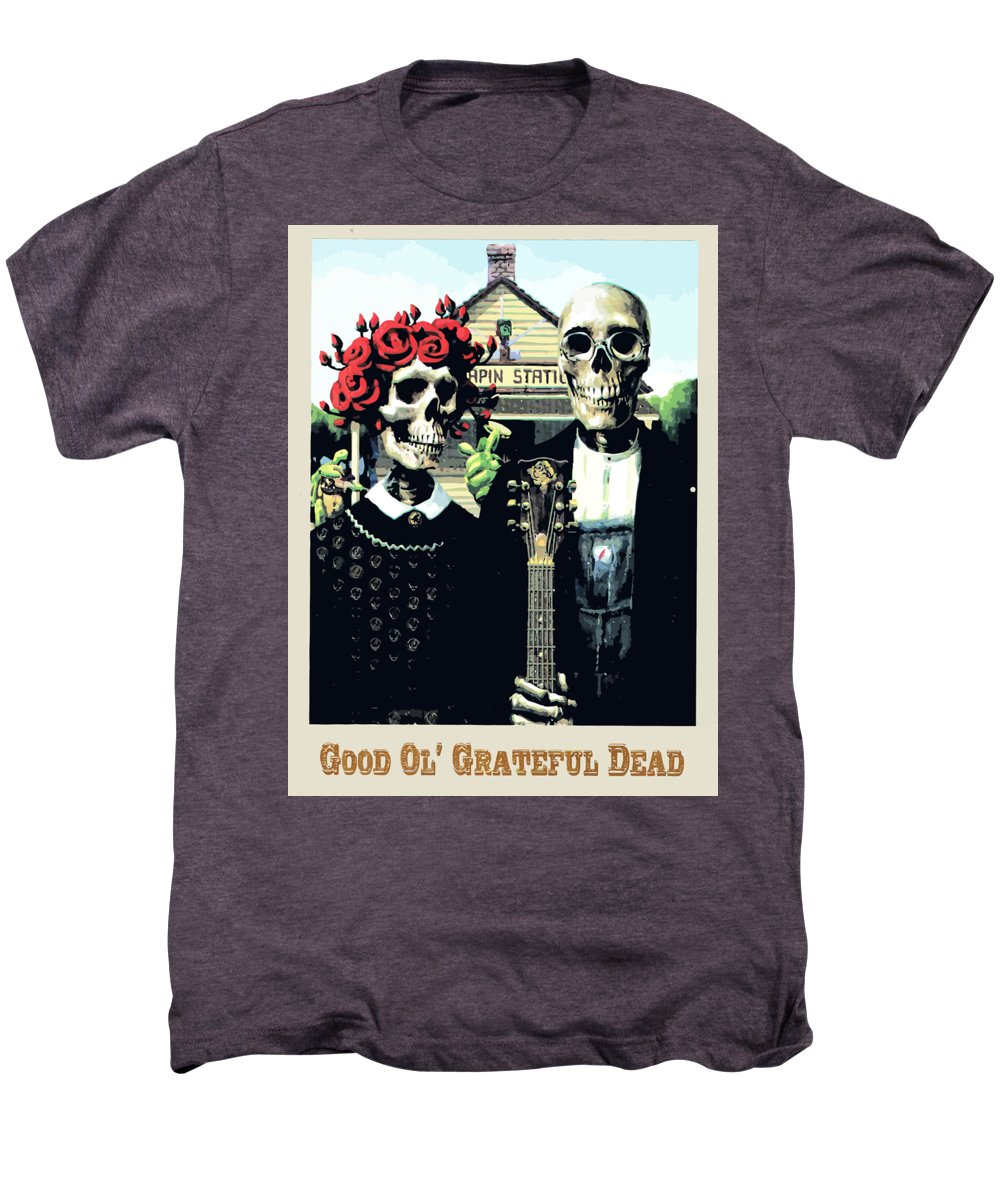 c5743323 Grateful Dead Men's Premium T-Shirt featuring the digital art Good Ol by  The Dead