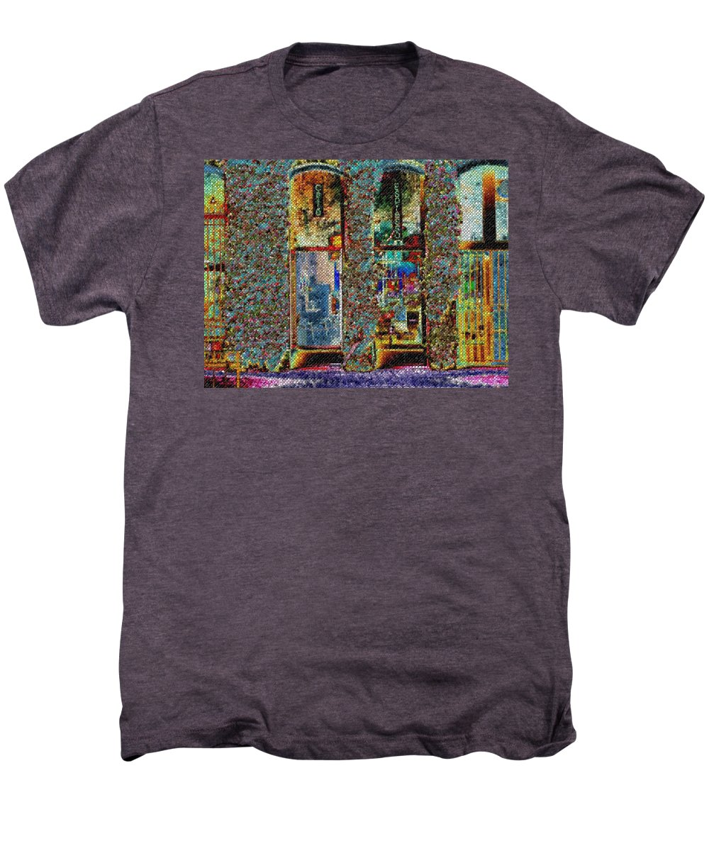 Seattle Men's Premium T-Shirt featuring the digital art Grand Central Bakery Mosaic by Tim Allen