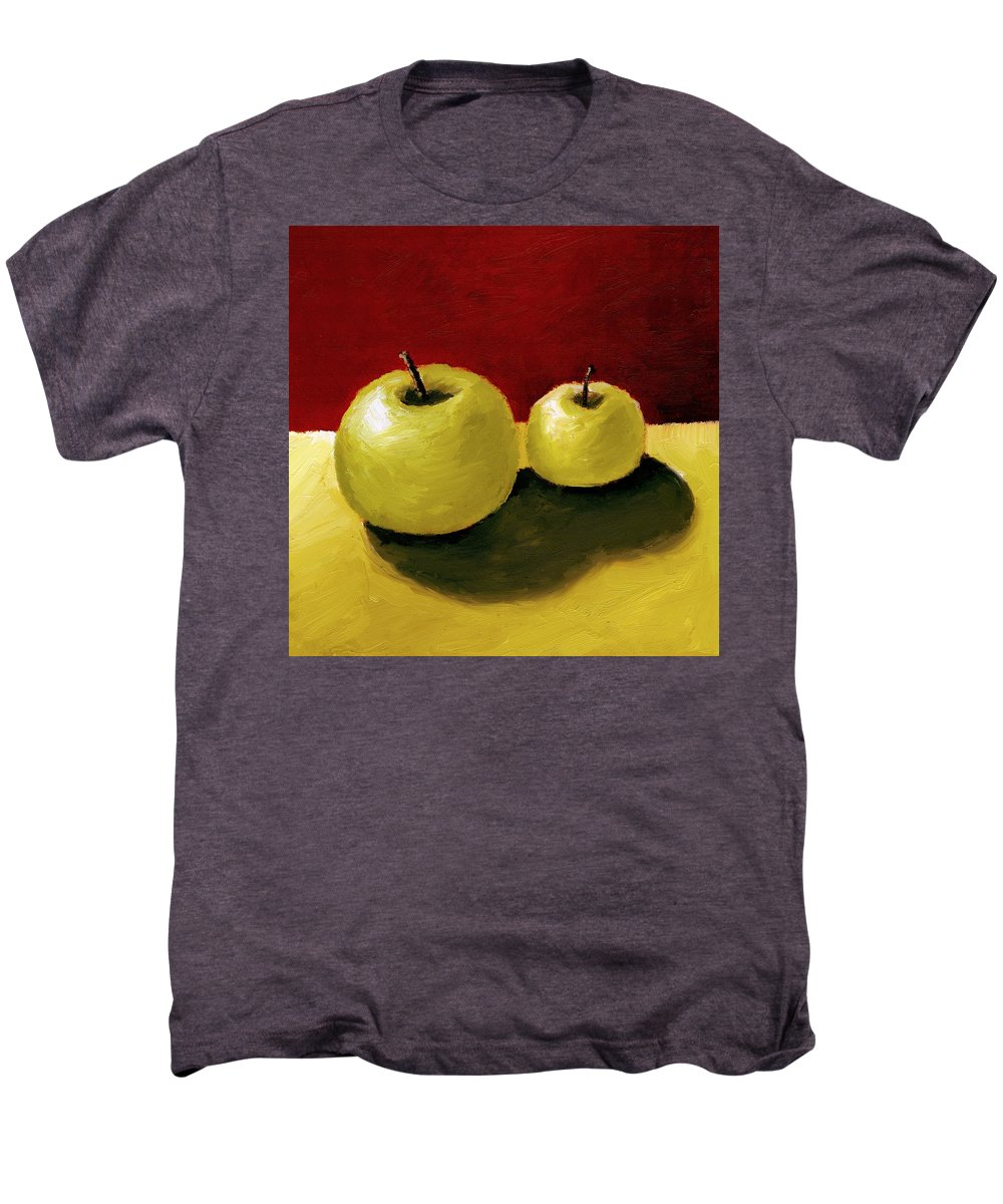 Apple Men's Premium T-Shirt featuring the painting Granny Smith Apples by Michelle Calkins