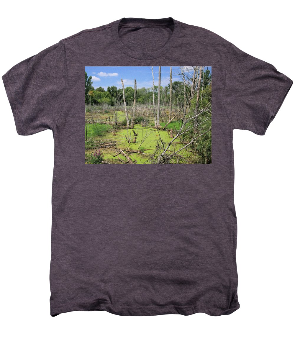 Landscape Men's Premium T-Shirt featuring the photograph Green Pea Soup by Robert Pearson