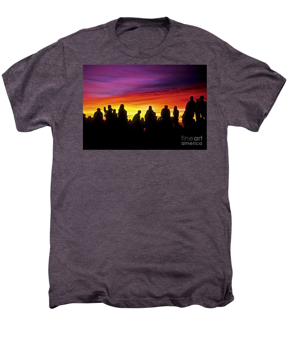 Haleakala Sunrise Men's Premium T-Shirt featuring the photograph Haleakala Color Show by Jim Cazel