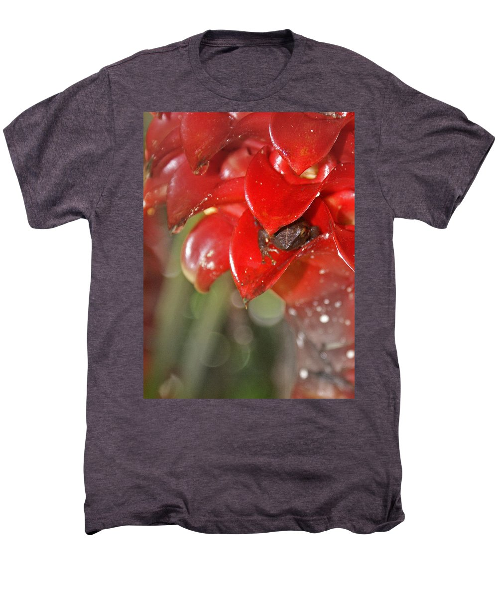 Frog Men's Premium T-Shirt featuring the digital art Hawaiian Frog by Heather Coen