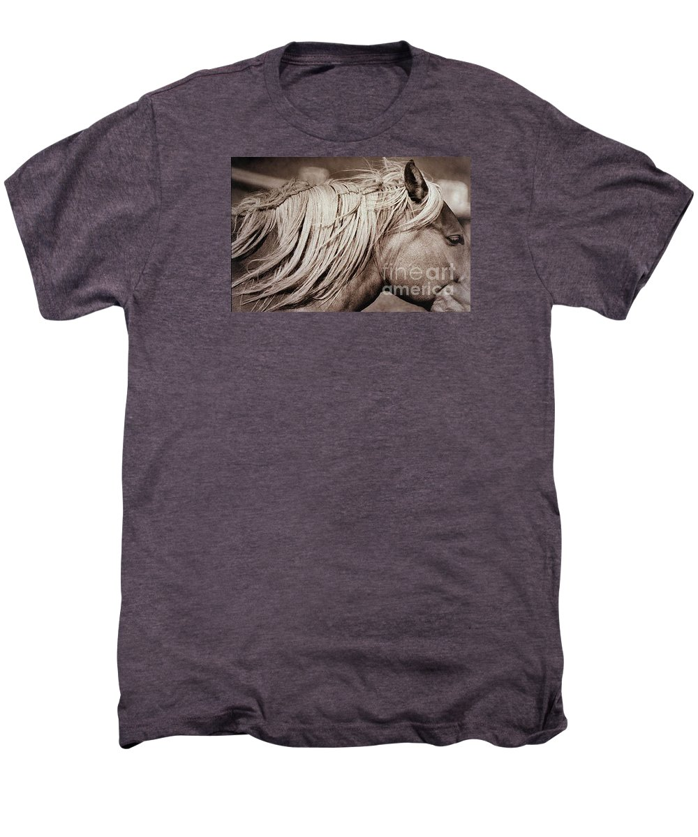 Horse Men's Premium T-Shirt featuring the photograph Horse's Mane by Michael Ziegler