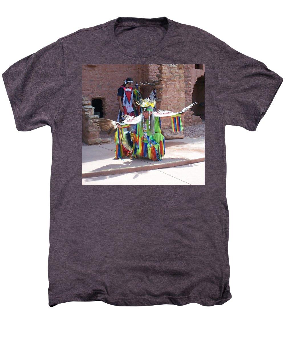 Indian Dancer Men's Premium T-Shirt featuring the photograph Indian Dancer by Anita Burgermeister