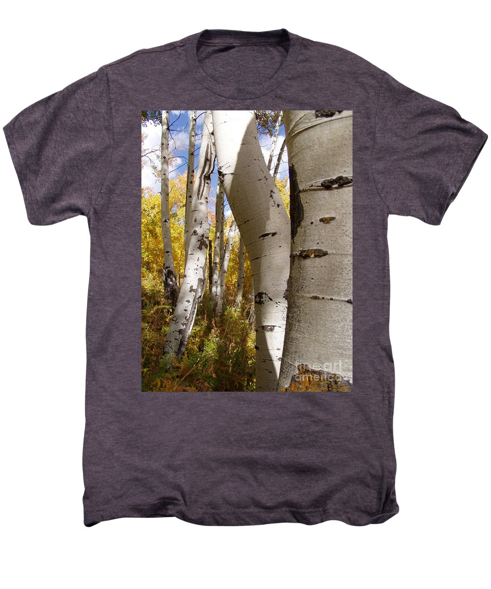 Trees Men's Premium T-Shirt featuring the photograph Jackson Hole Wyoming by Amanda Barcon
