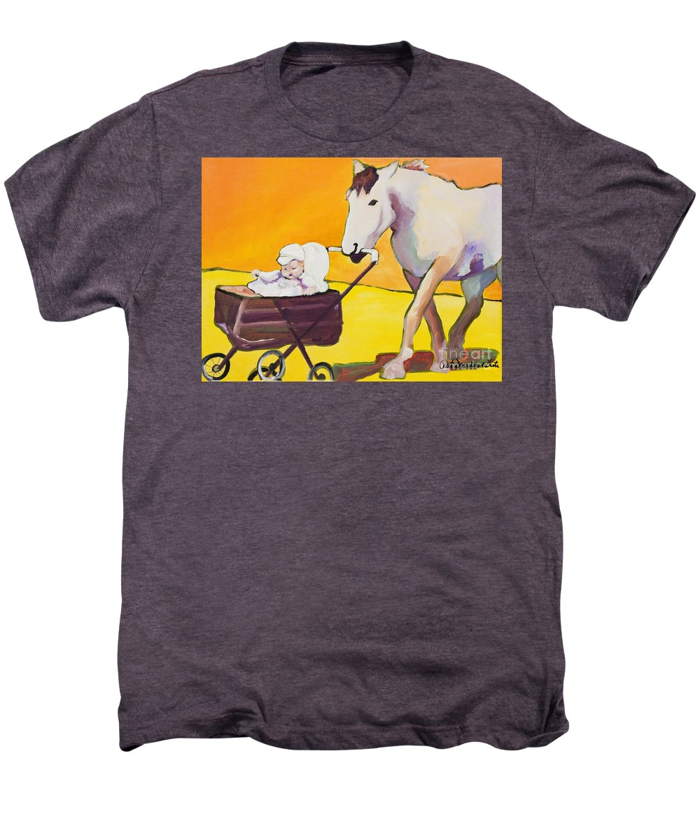 Animal Men's Premium T-Shirt featuring the painting Jake by Pat Saunders-White