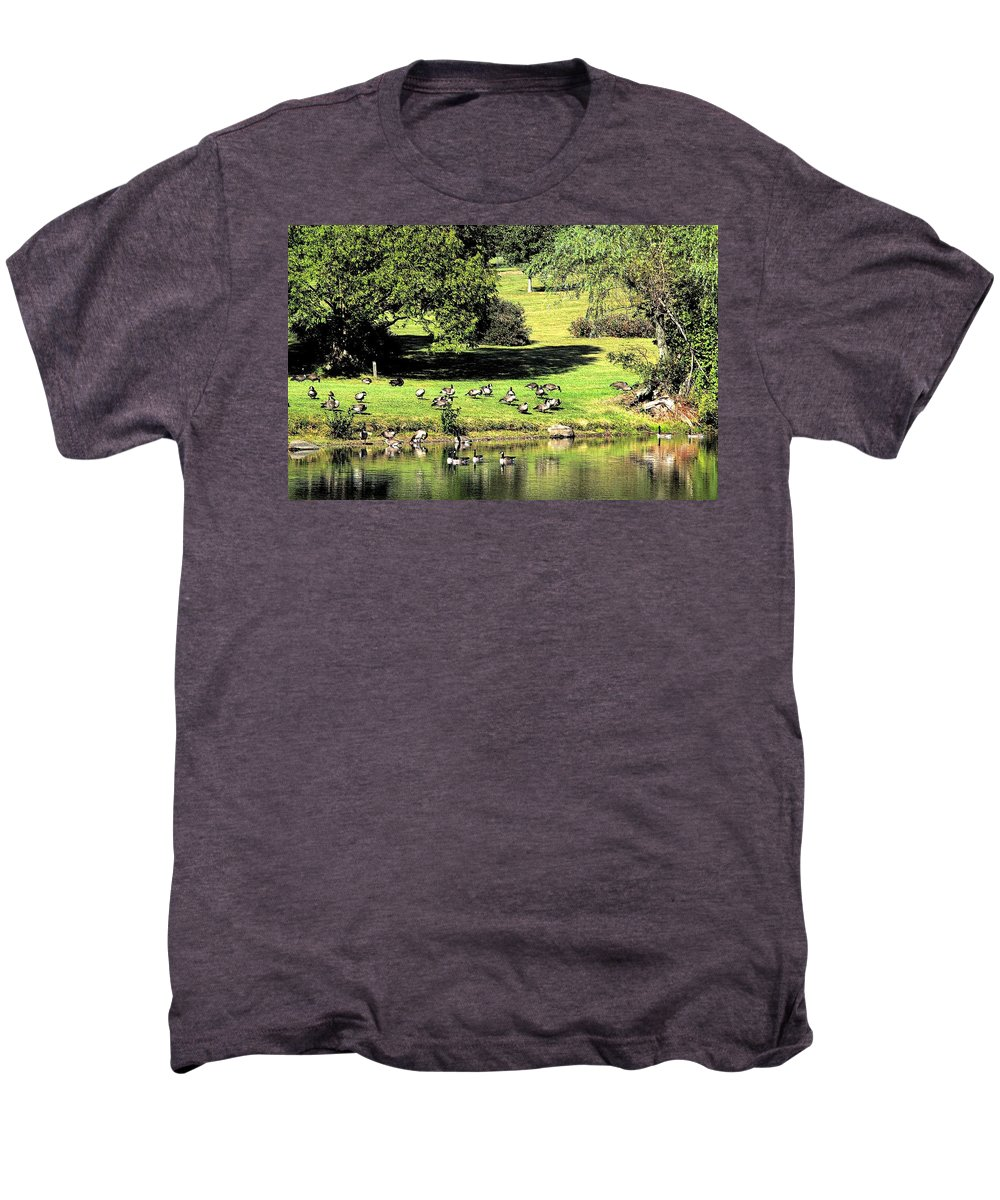 Bird Men's Premium T-Shirt featuring the photograph Last Days Of Summer by Gaby Swanson