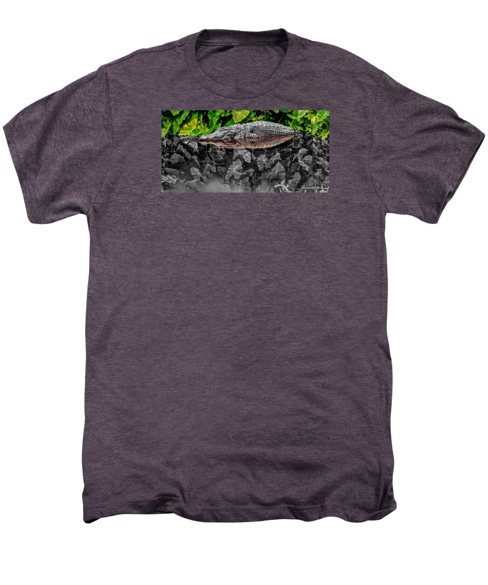 American Men's Premium T-Shirt featuring the photograph Let Sleeping Gators Lie - Mod by Christopher Holmes