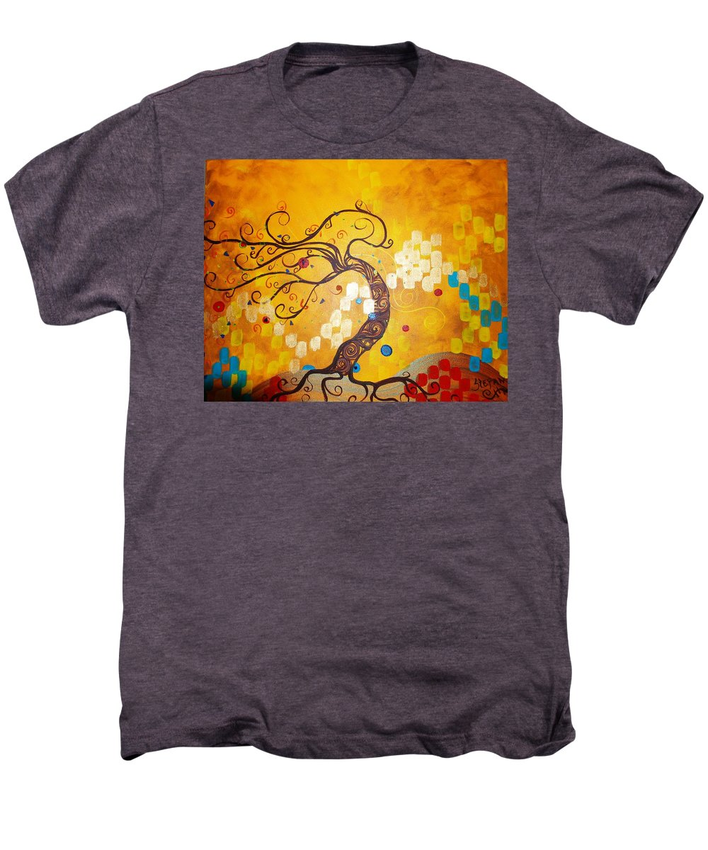 Men's Premium T-Shirt featuring the painting Life Is A Ball by Stefan Duncan
