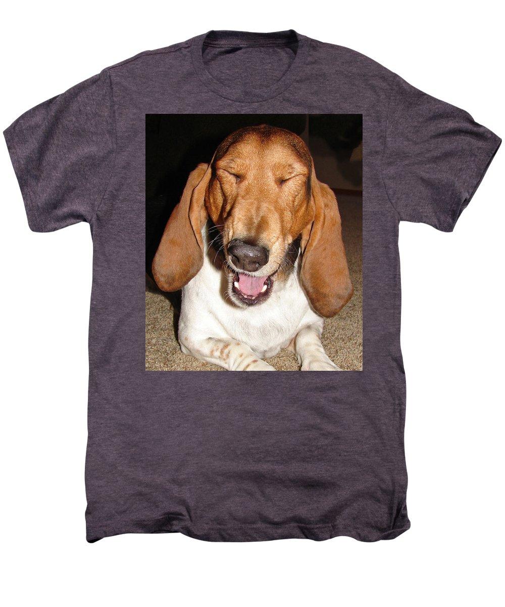 Basset Hound Men's Premium T-Shirt featuring the photograph Lillard by Heather Coen