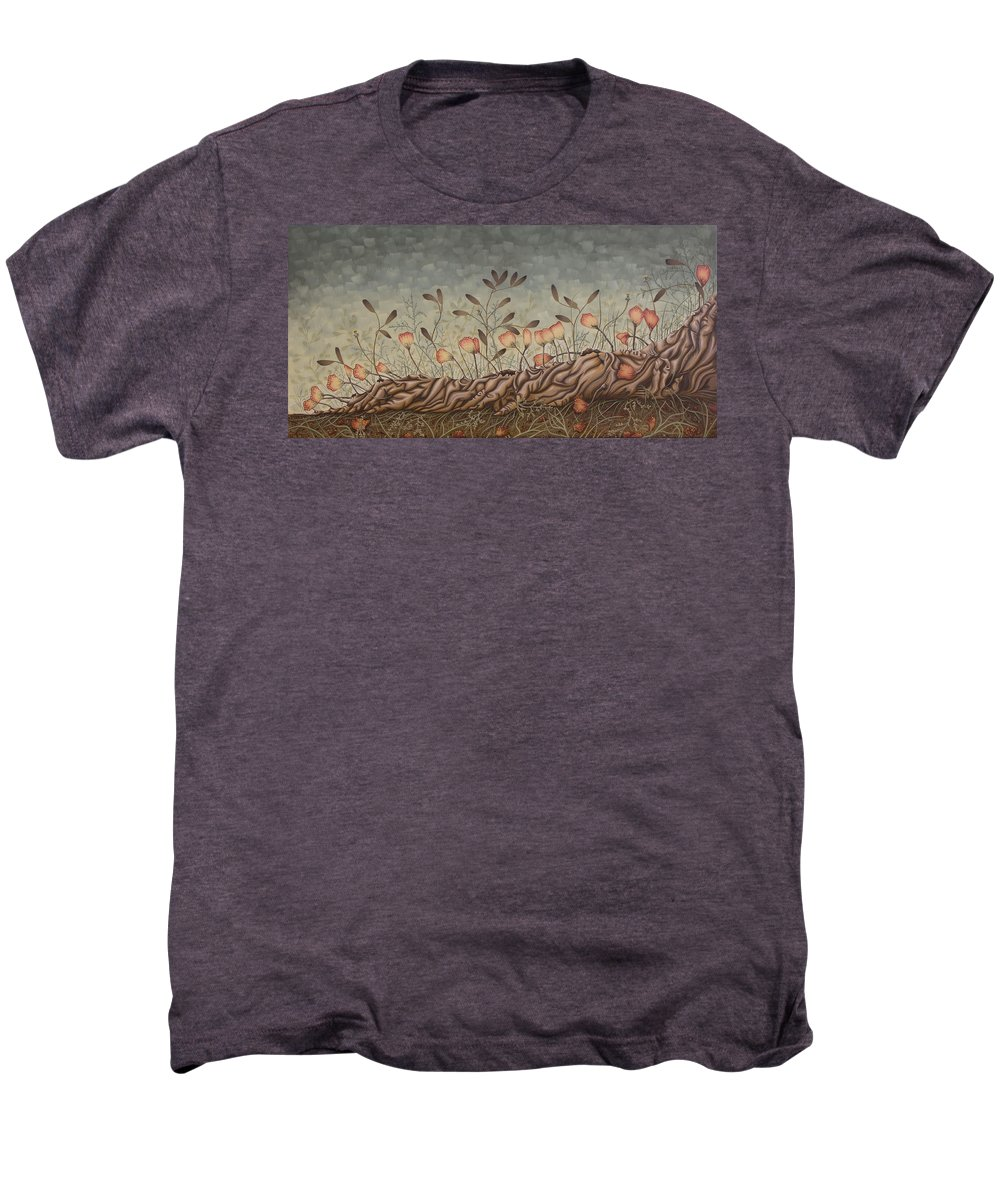 Sex Men's Premium T-Shirt featuring the painting Little Gods by Judy Henninger