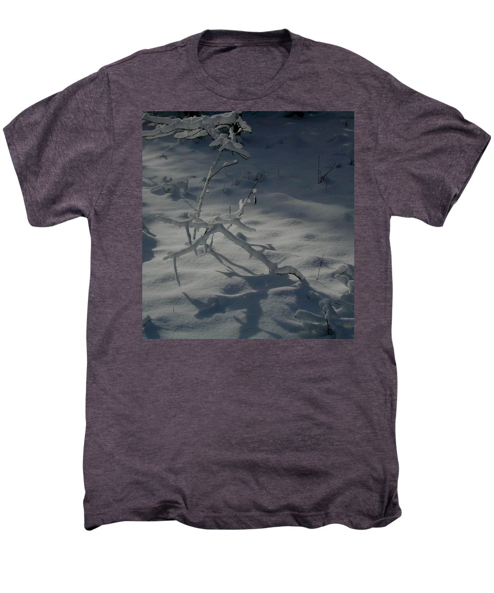 Loneliness Men's Premium T-Shirt featuring the photograph Loneliness In The Cold by Douglas Barnett