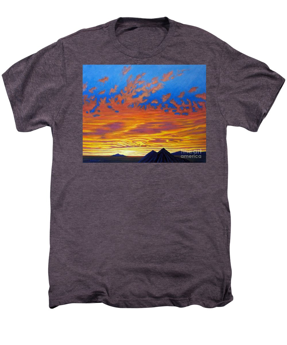 Landscape Men's Premium T-Shirt featuring the painting Looking To The Southwest by Brian Commerford