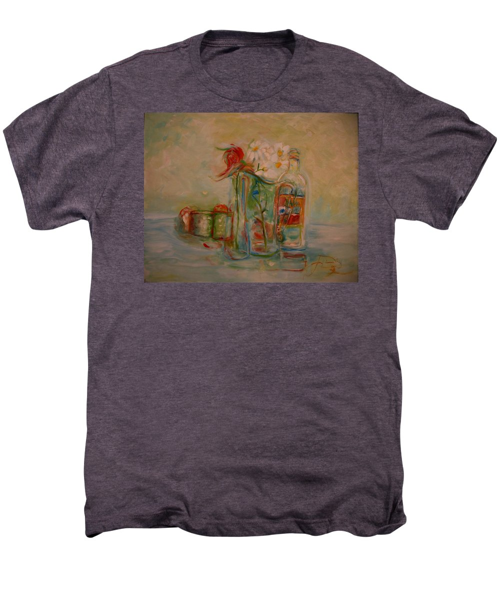 Rose Men's Premium T-Shirt featuring the painting Lovers Picnic by Jack Diamond