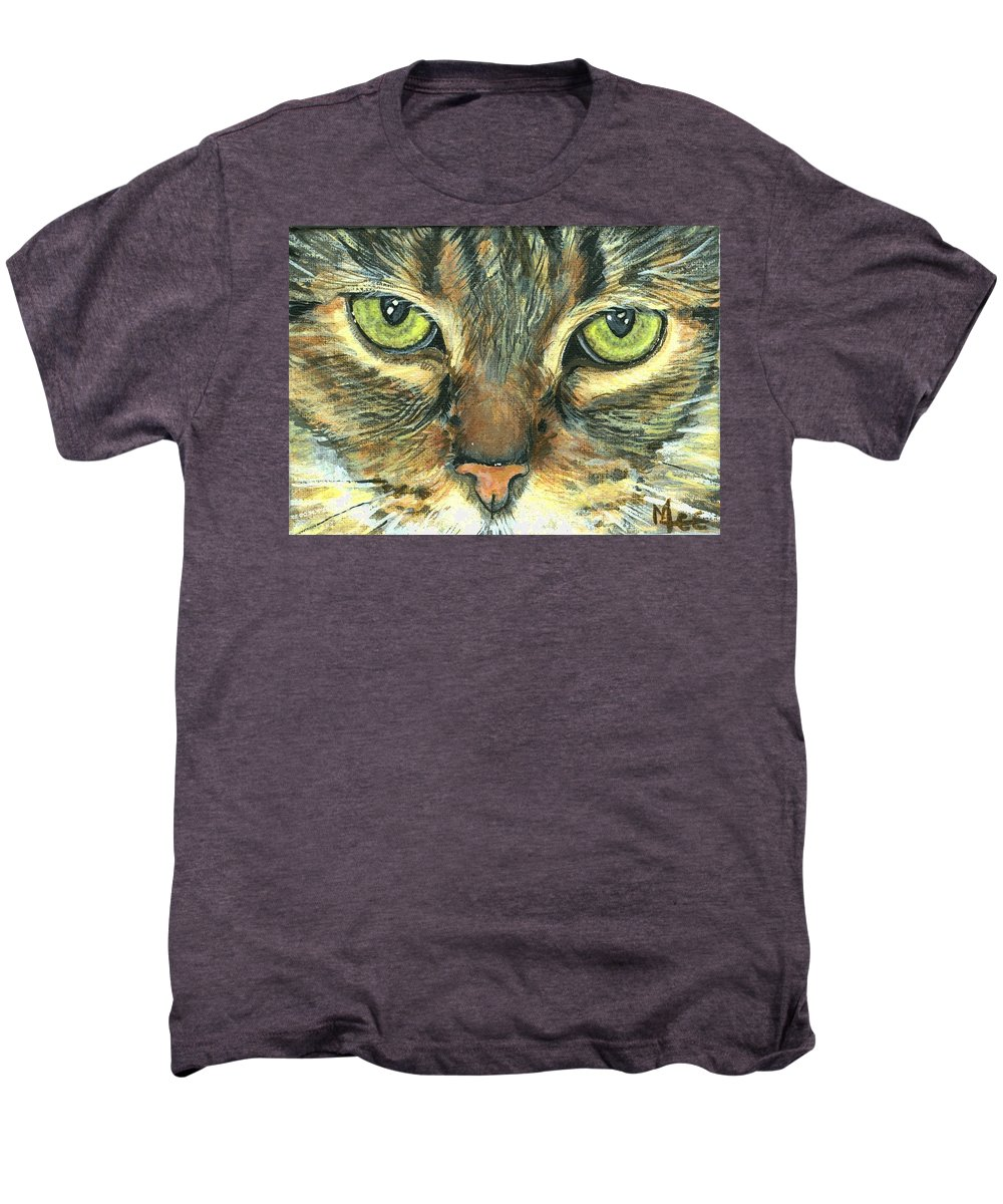 Charity Men's Premium T-Shirt featuring the painting Malika by Mary-Lee Sanders