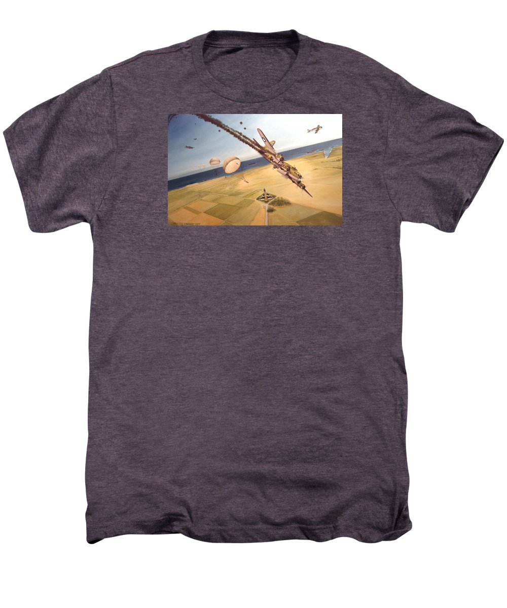 Aviation Men's Premium T-Shirt featuring the painting Mehitabel by Marc Stewart