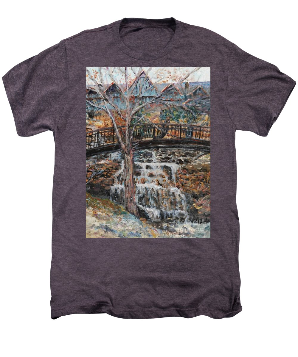 Waterfalls Men's Premium T-Shirt featuring the painting Memories by Nadine Rippelmeyer