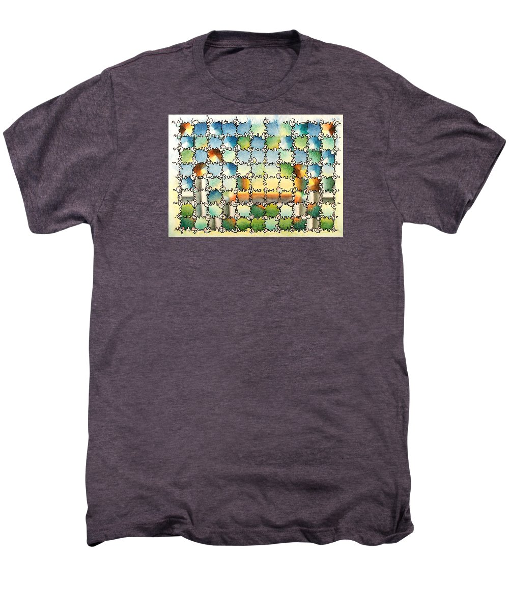 Watercolor Men's Premium T-Shirt featuring the painting Morning Gateway by Dave Martsolf