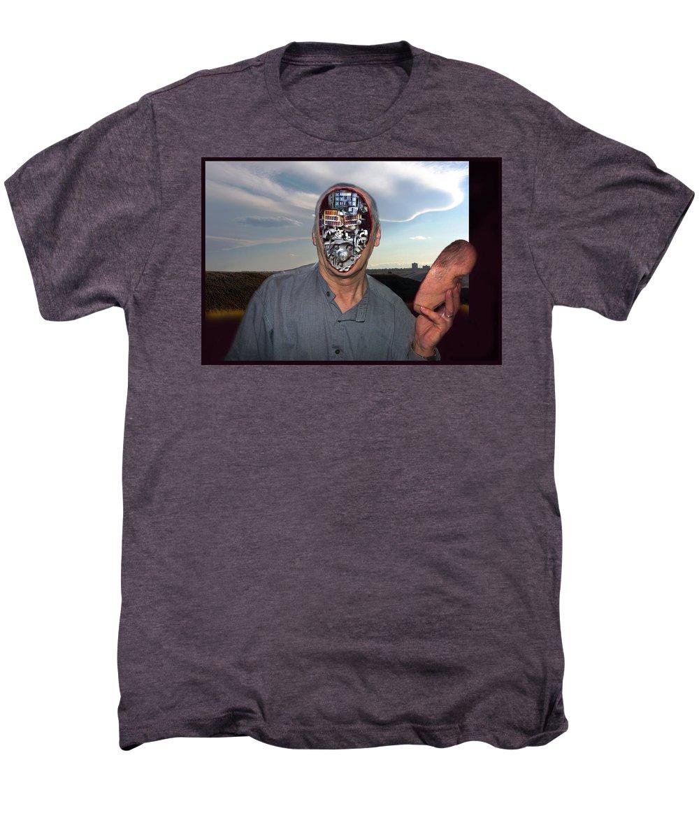 Surrealism Men's Premium T-Shirt featuring the digital art Mr. Robot-otto by Otto Rapp
