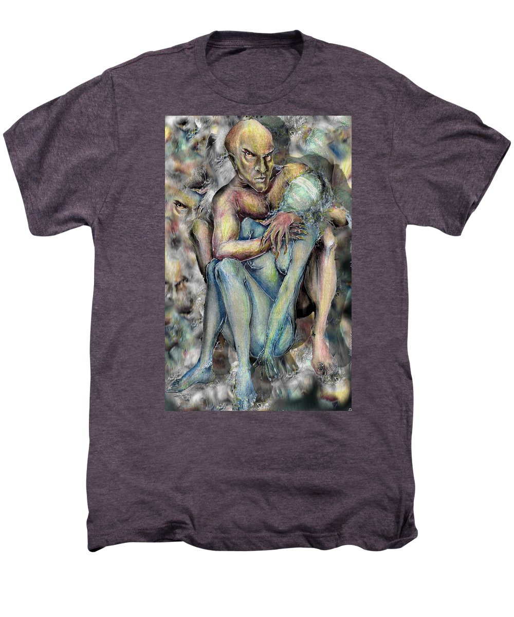 Demons Love Passion Control Posession Woman Lust Men's Premium T-Shirt featuring the mixed media My Precious by Veronica Jackson