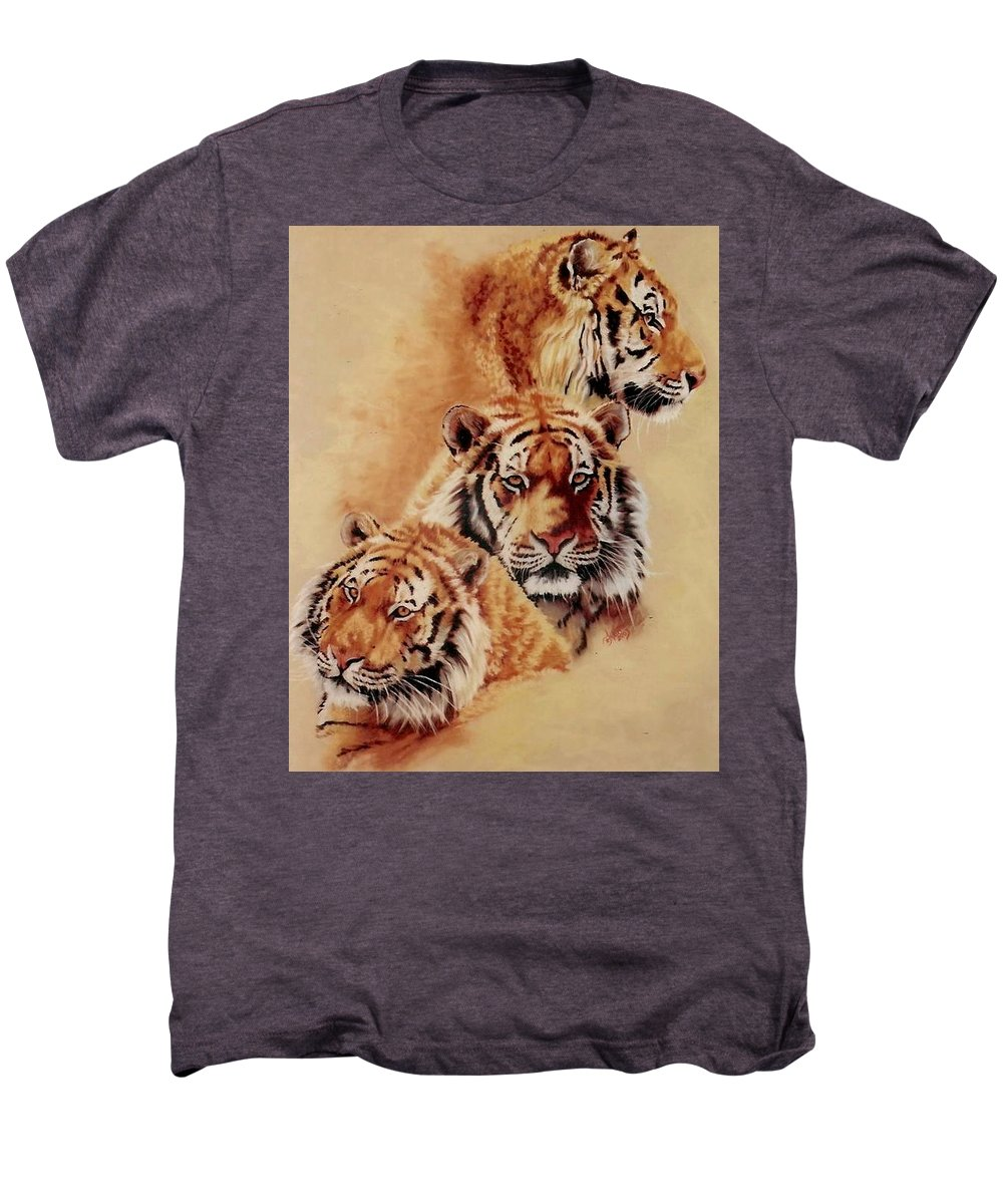 Tiger Men's Premium T-Shirt featuring the pastel Nanook by Barbara Keith