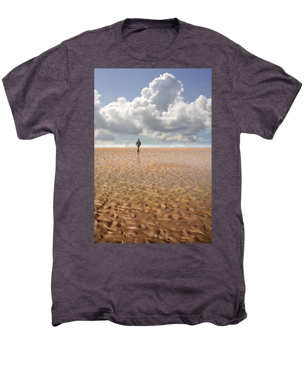 Landscape Men's Premium T-Shirt featuring the photograph Never Go Back by Mal Bray