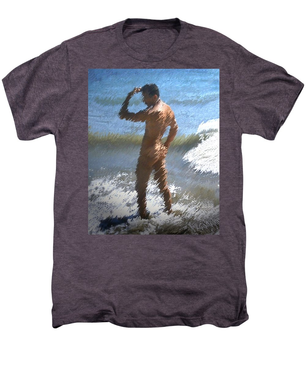Nudes Men's Premium T-Shirt featuring the photograph Ocean Thoughts by Kurt Van Wagner