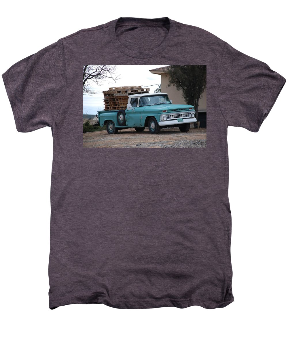 Old Truck Men's Premium T-Shirt featuring the photograph Old Chevy by Rob Hans