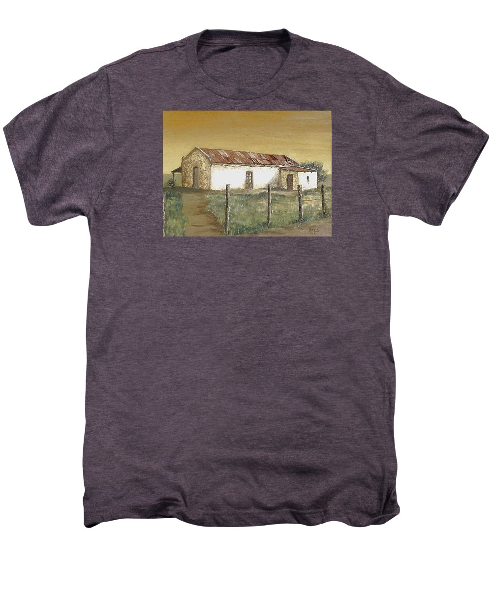 Old House Landscape Country Men's Premium T-Shirt featuring the painting Old House by Natalia Tejera