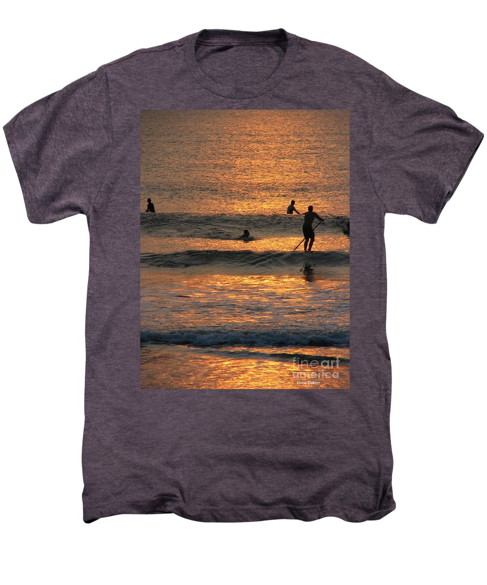 Art For The Wall...patzer Photography Men's Premium T-Shirt featuring the photograph One With Nature by Greg Patzer