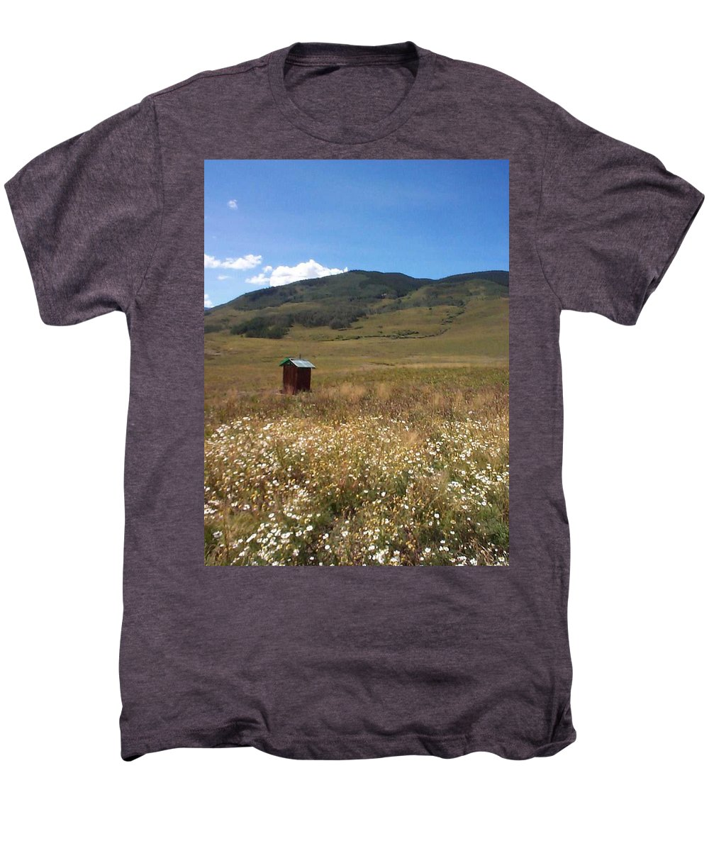 Charity Men's Premium T-Shirt featuring the photograph Out House by Mary-Lee Sanders