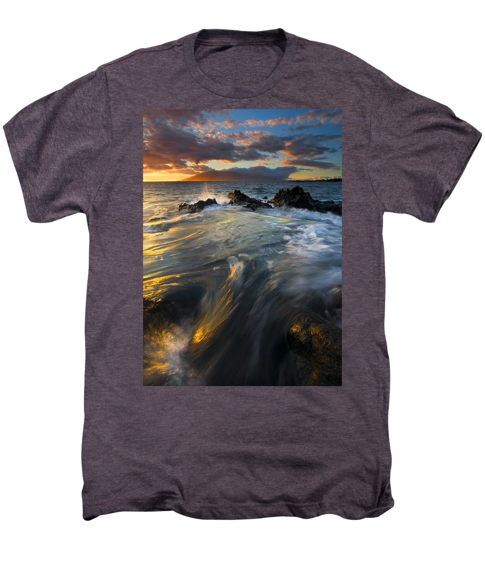Cauldron Men's Premium T-Shirt featuring the photograph Overflow by Mike Dawson