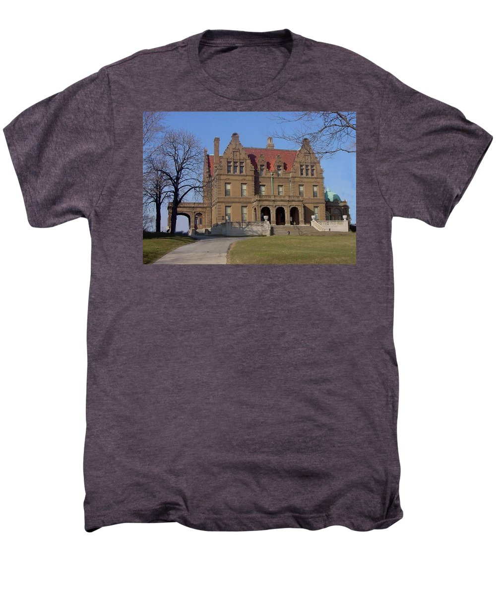 Pabst Mansion Men's Premium T-Shirt featuring the photograph Pabst Mansion Photo by Anita Burgermeister
