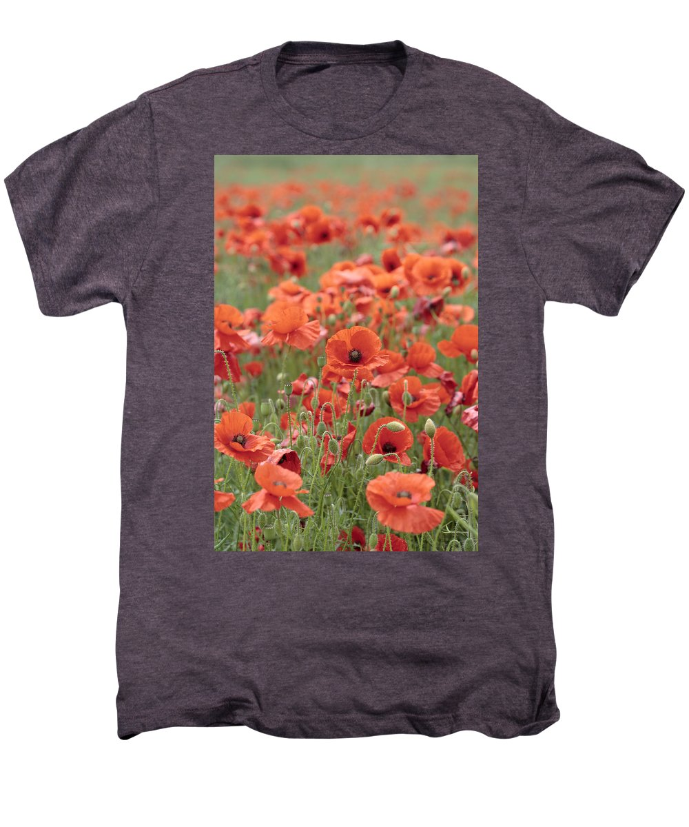 Poppy Men's Premium T-Shirt featuring the photograph Poppies by Phil Crean