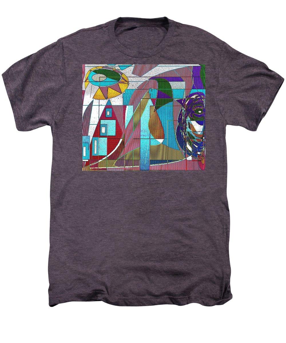 Purple Men's Premium T-Shirt featuring the digital art Purple And Blue by Ian MacDonald