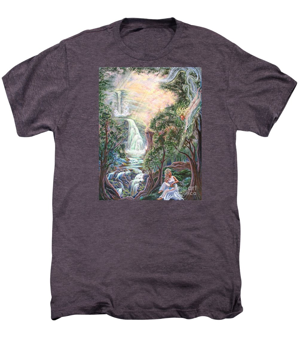 Spiritual Men's Premium T-Shirt featuring the painting Ready To Fly by Joyce Jackson