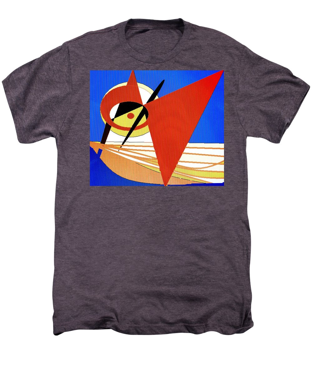 Boat Men's Premium T-Shirt featuring the digital art Red Sails In The Sunset by Ian MacDonald