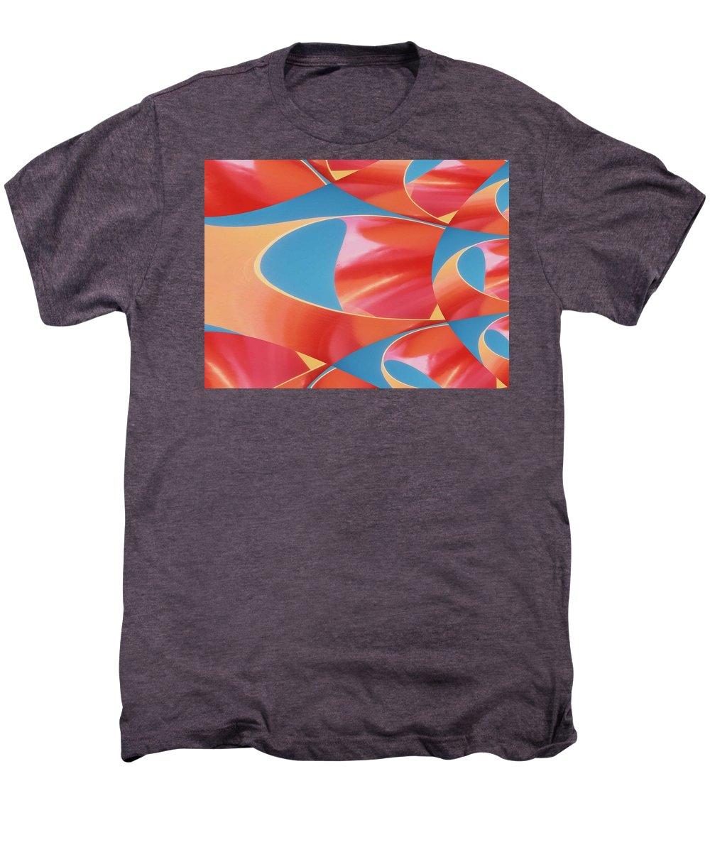 Tubes Men's Premium T-Shirt featuring the digital art Red Tubes by Tim Allen