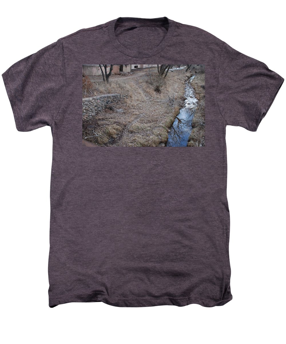 Water Men's Premium T-Shirt featuring the photograph Reflections In The River by Rob Hans