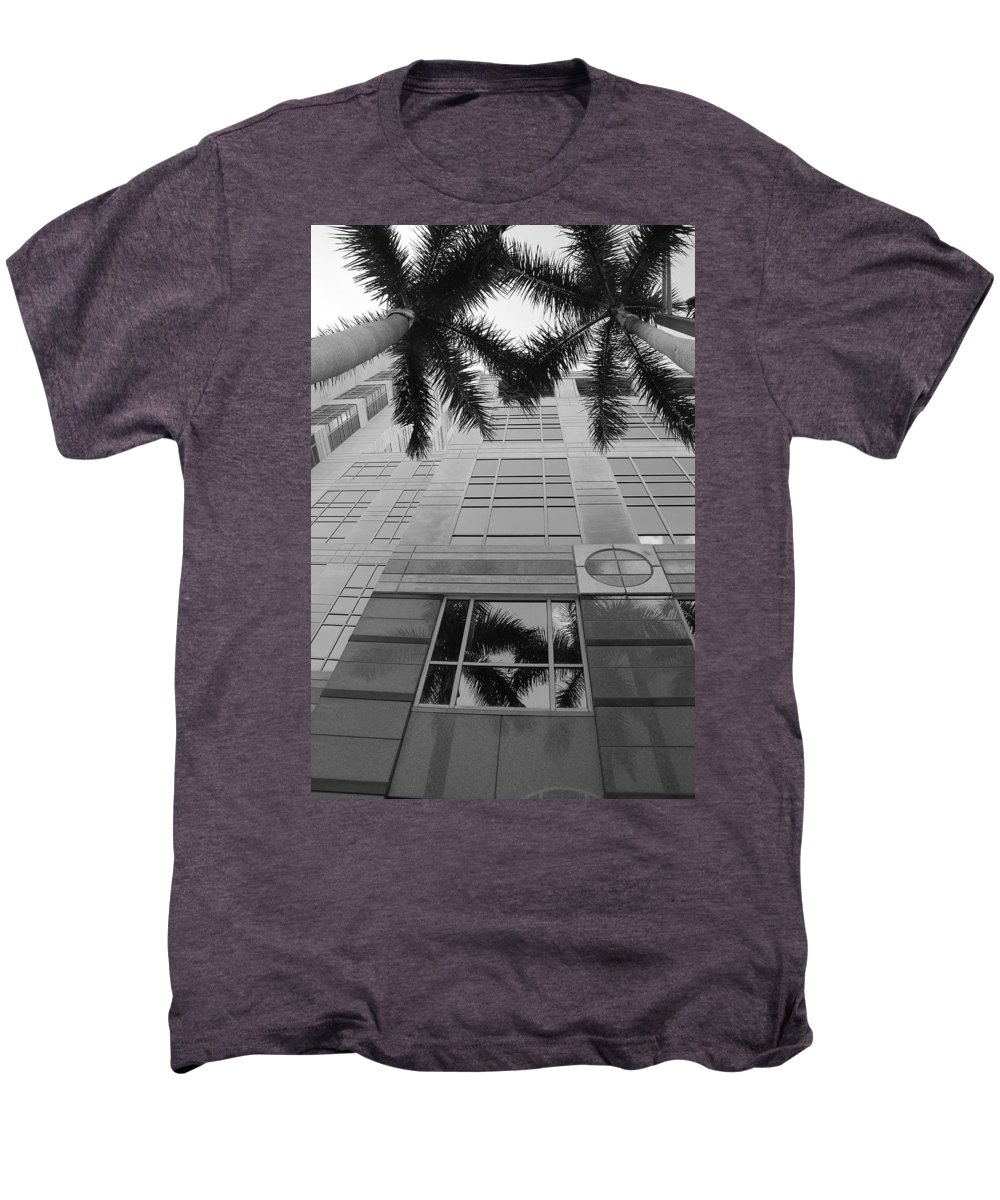 Architecture Men's Premium T-Shirt featuring the photograph Reflections On The Building by Rob Hans