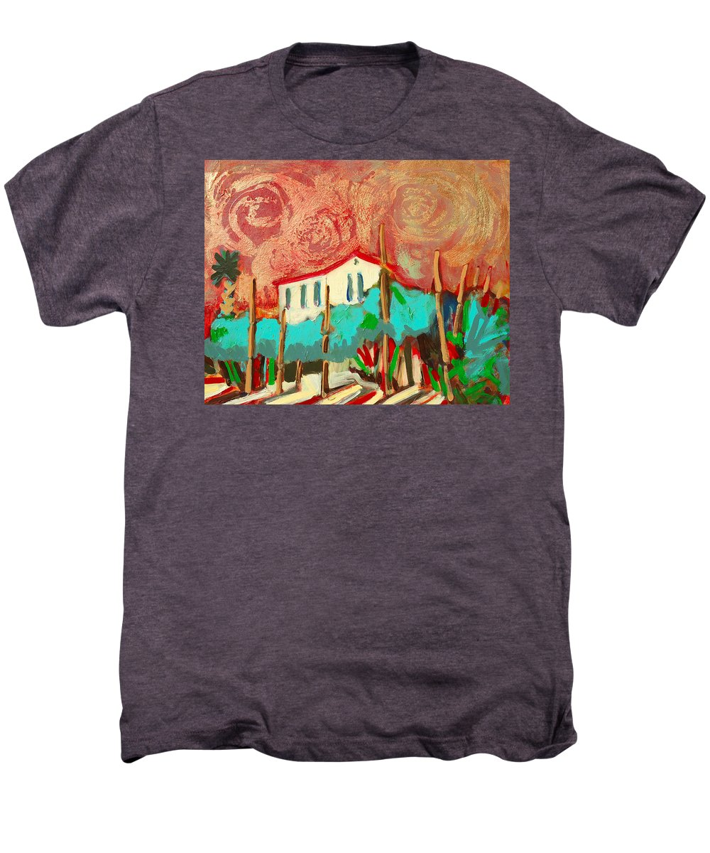 Tuscany Men's Premium T-Shirt featuring the painting Ricordare by Kurt Hausmann