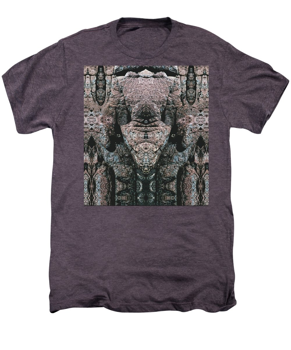 Rocks Men's Premium T-Shirt featuring the digital art Rock Gods Elephant Stonemen Of Ogunquit by Nancy Griswold
