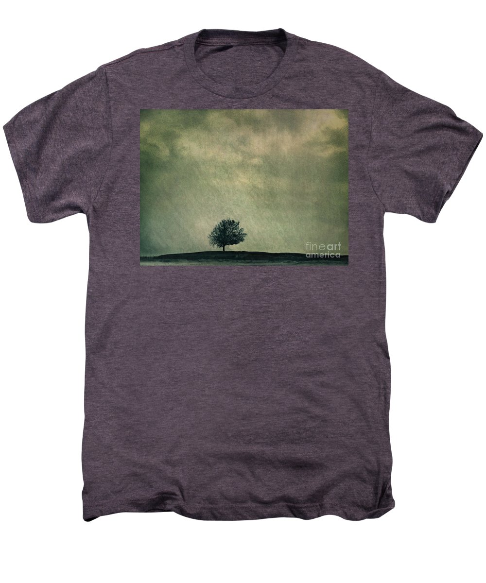 Blue Men's Premium T-Shirt featuring the photograph Screaming At The Top Of My Voice by Dana DiPasquale