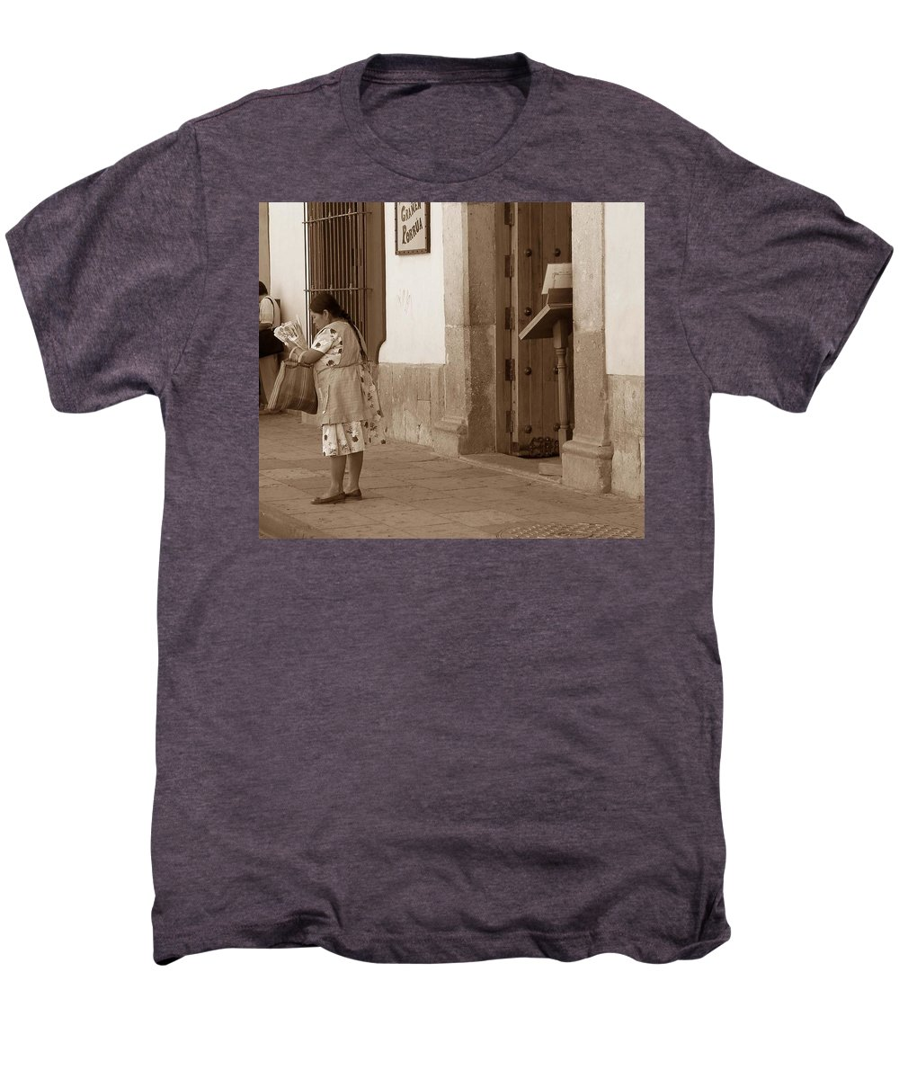 Charity Men's Premium T-Shirt featuring the photograph Senora by Mary-Lee Sanders