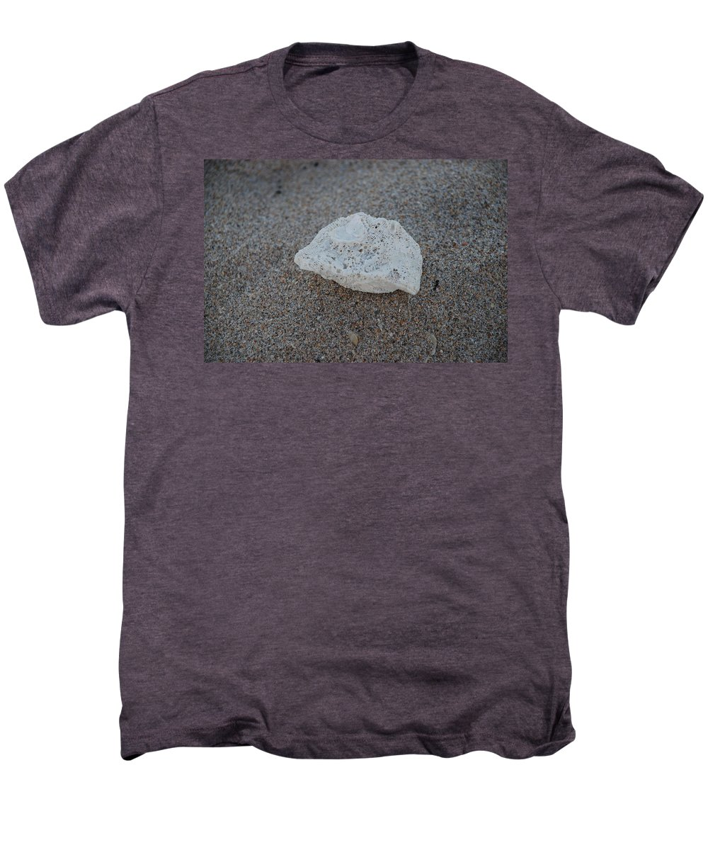 Shells Men's Premium T-Shirt featuring the photograph Shell And Sand by Rob Hans