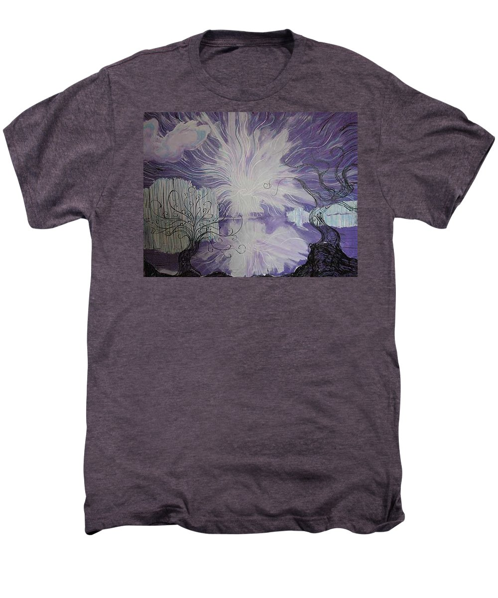 Squiggleism Men's Premium T-Shirt featuring the painting Shore Dance by Stefan Duncan