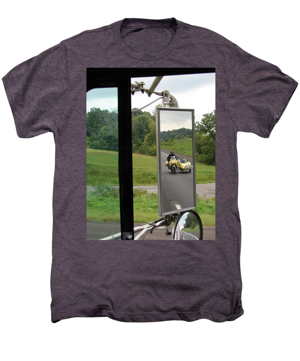 Truck Men's Premium T-Shirt featuring the photograph Side Car Framed by J R  Seymour