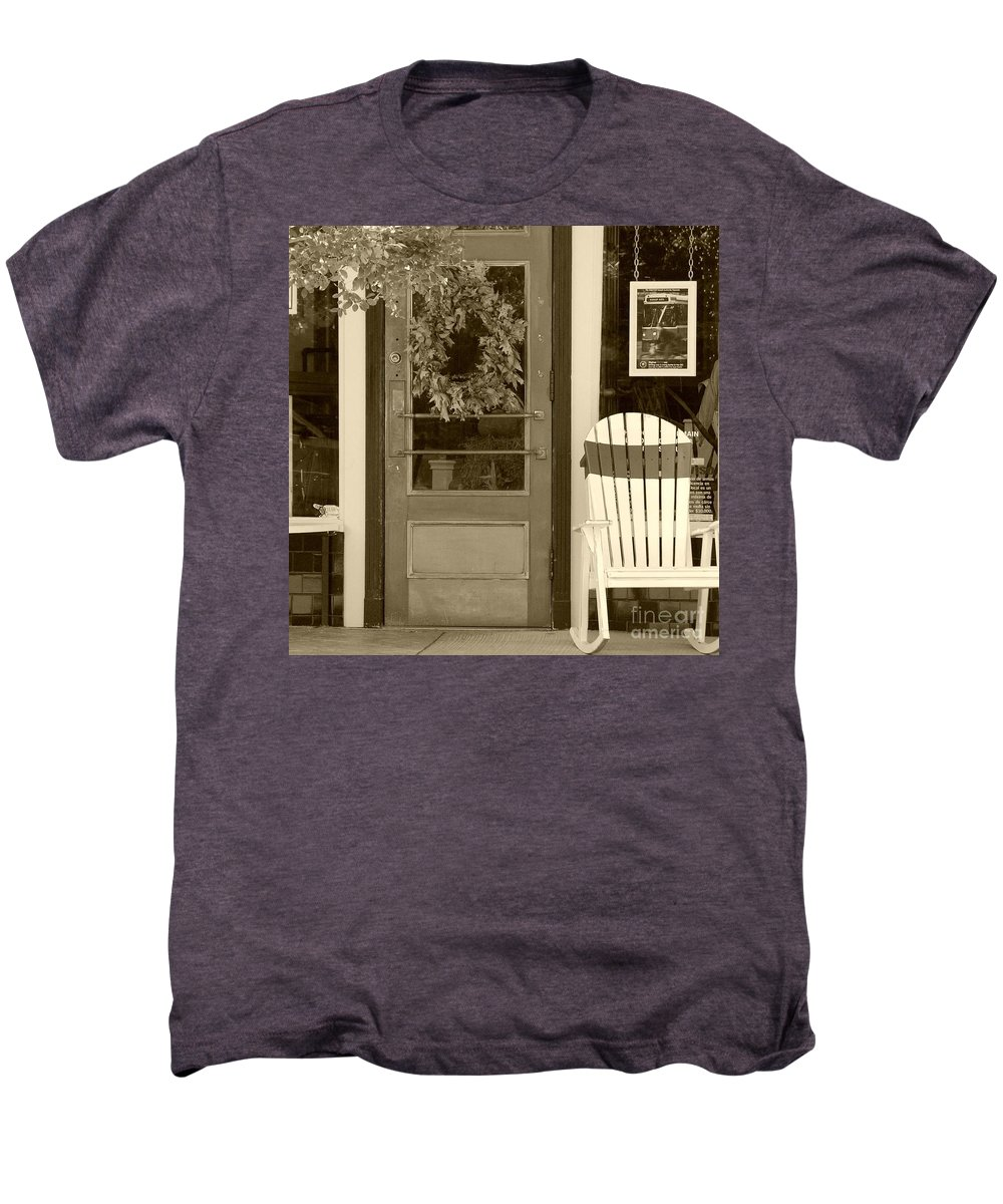 Rocking Chair Men's Premium T-Shirt featuring the photograph Simple Times by Debbi Granruth