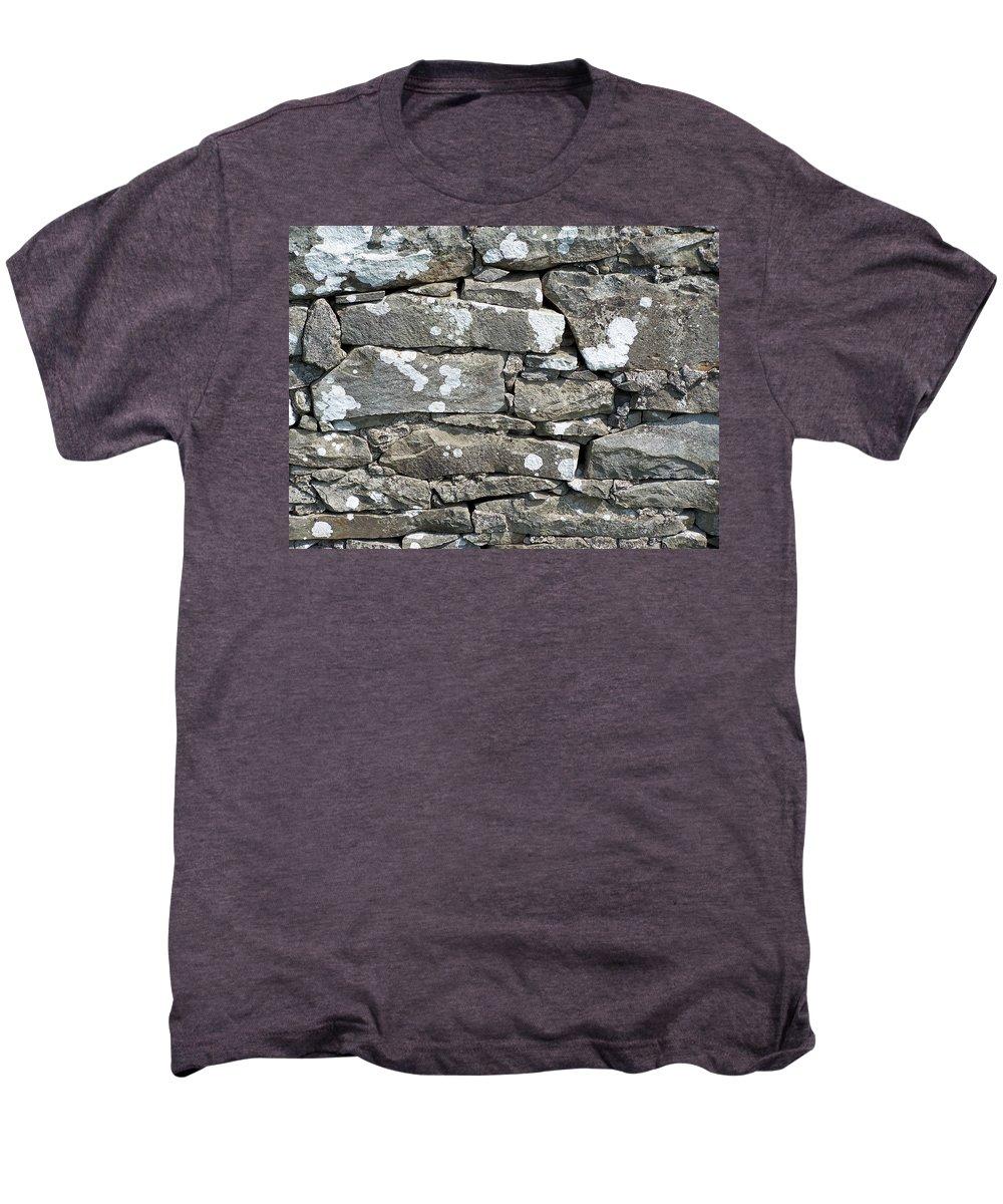 Irish Men's Premium T-Shirt featuring the photograph Stone Wall Detail Doolin Ireland by Teresa Mucha